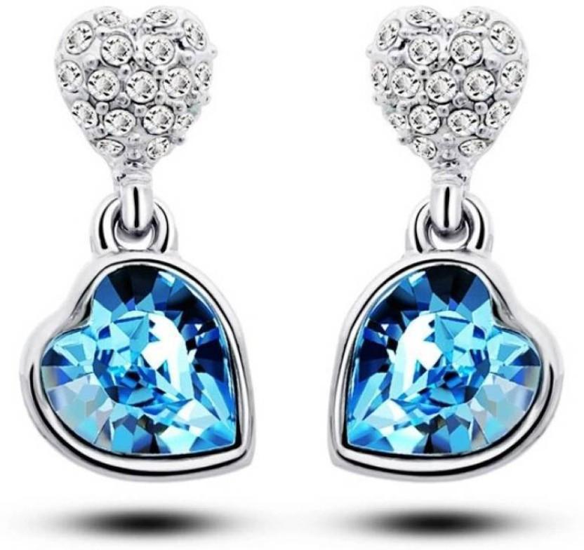 2014 shoppers stop bridal double heart Alloy Drop Earring