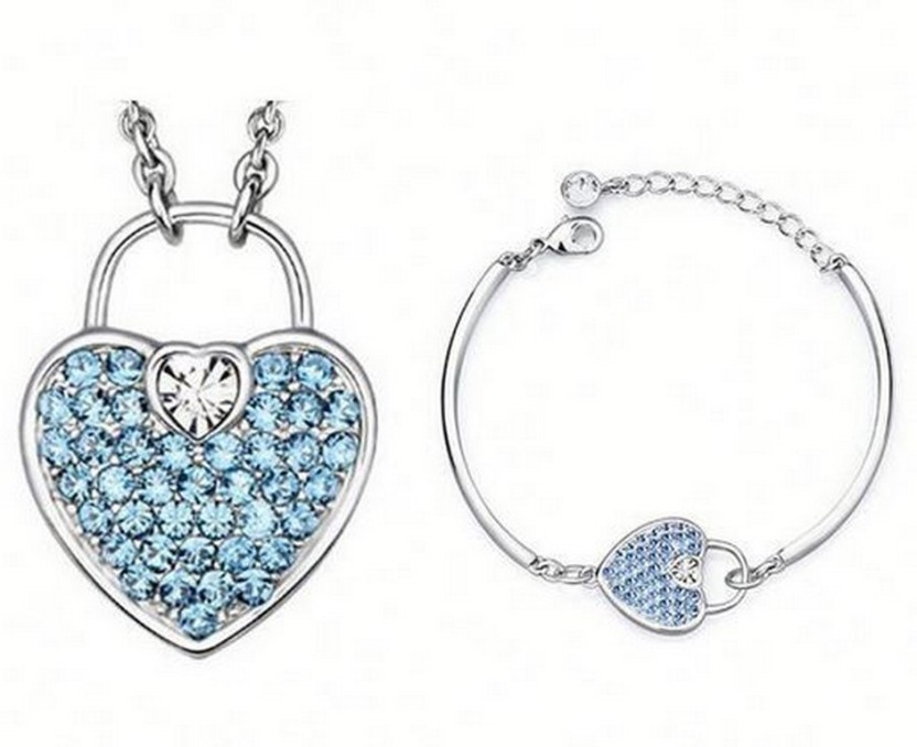 Nevi Metal, Crystal, Brass, Alloy Jewel Set