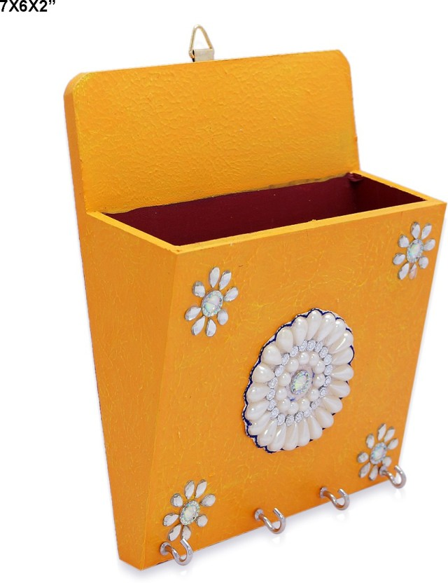 R S Jewels Handmad Paper Mache Designs Key Stand Wooden Key Holder