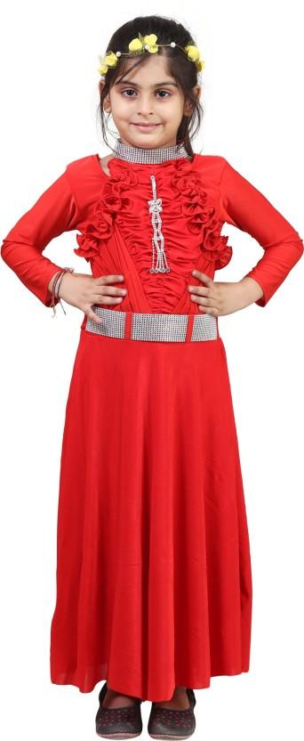 Crazeis Girls Midi/Knee Length Party Dress