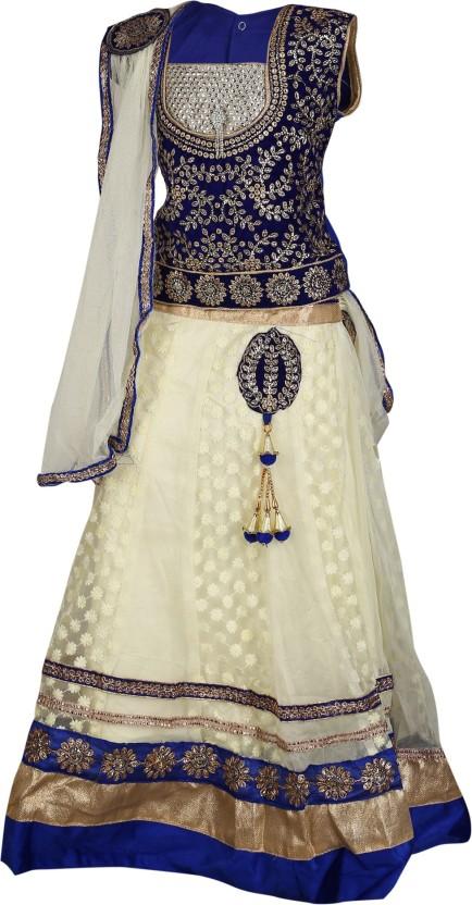 Crazeis Girls Lehenga Choli Western Wear Embroidered Lehenga Choli