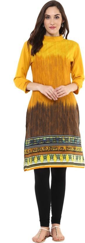 Qalamkari Casual Printed, Self Design Women