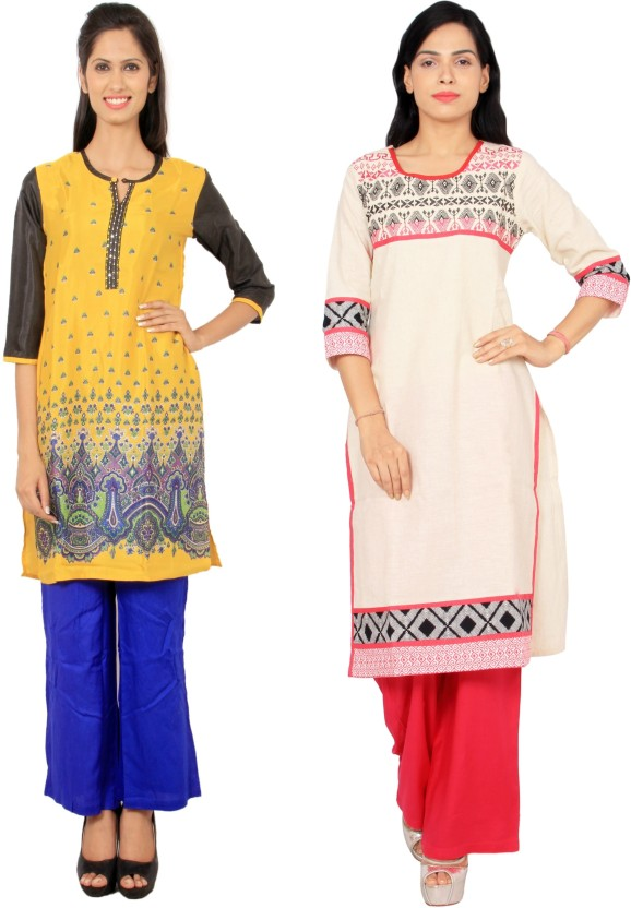Rama Floral Print, Embroidered Women