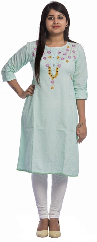 Fasense Casual Embroidered, Solid Women