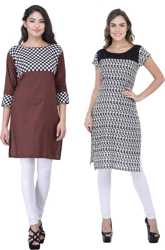 Drapes Casual Checkered, Printed Women