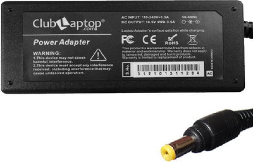 Clublaptop Compaq Presario B2015AP B2017AL 18.5V 3.5A 4.8 mm x 1.7 mm Yellow Tip 65 W Adapter
