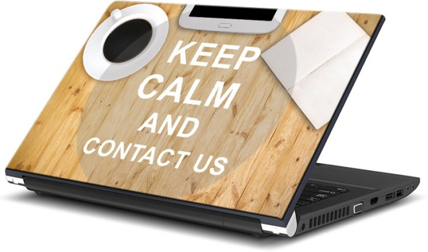 ezyPRNT Keep Calm and Contact US (13 to 13.9 inch) Vinyl Laptop Decal 13