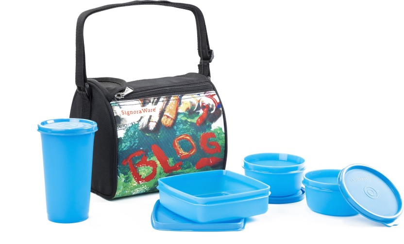 Signoraware 513 BLUE BLOG 4 Containers Lunch Box