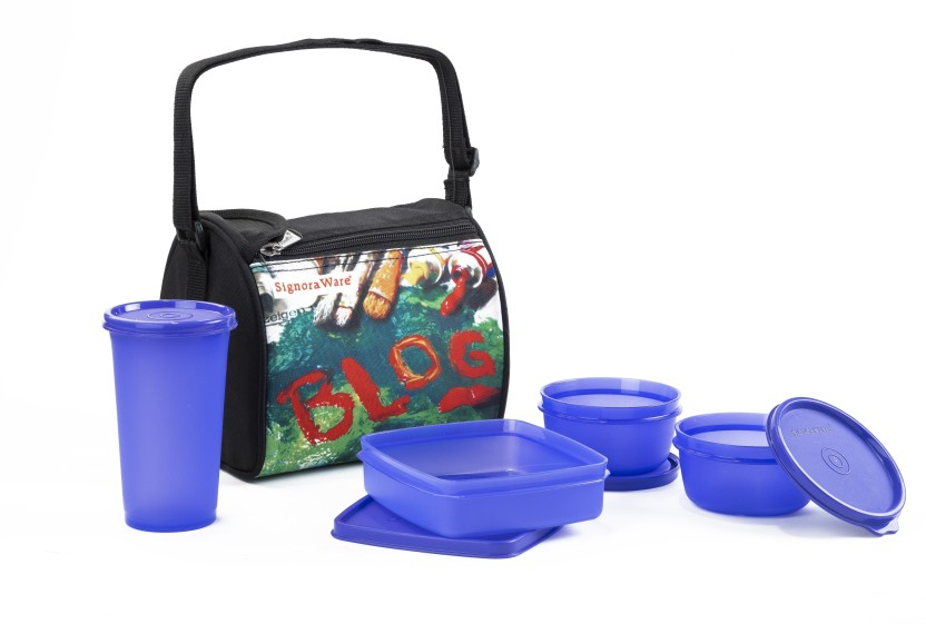 Signoraware 513 VIOLET BLOG 4 Containers Lunch Box