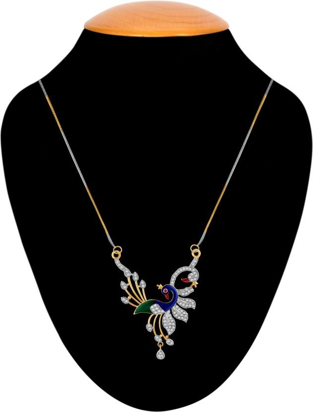 American Diamond Stunning Peacoke Alloy Tanmaniya