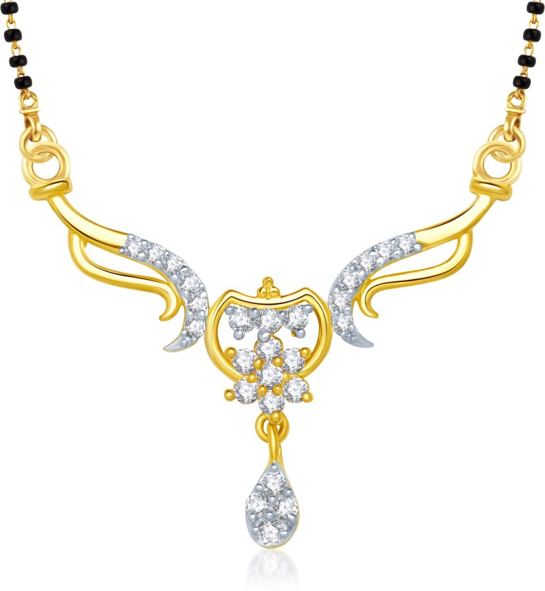 VK Jewels VK Jewels Stunning Gold and Rhodium plated Mangalsutra Pendant Alloy Mangalsutra