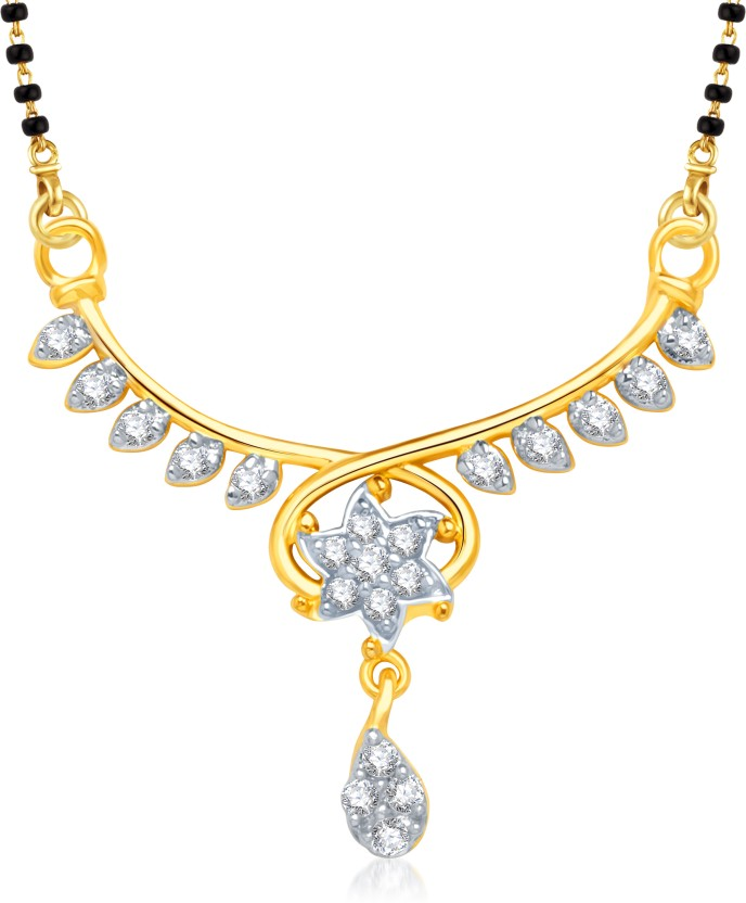 VK Jewels VK Jewels Divine Star Gold and Rhodium plated Mangalsutra Pendant Alloy Mangalsutra