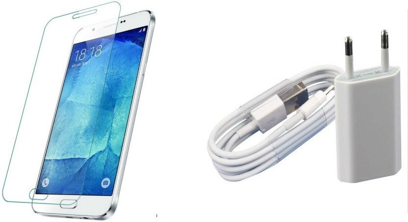 Akira COMBO OF charger AND tempered glass FOR SAMSUNG GALAXY S4 MINI-WHITE Accessory Combo