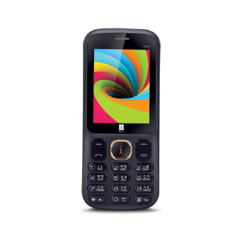 Iball 2.4 Neon Dual Sim - Black and Lemon