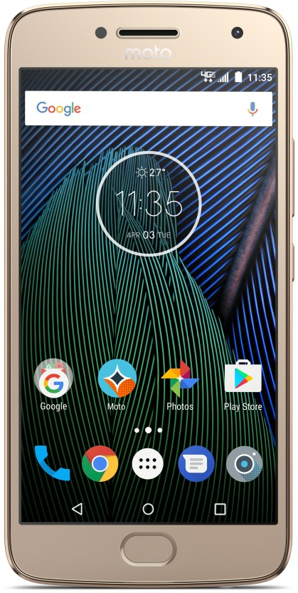 Moto G5 Plus (Fine Gold, 16 GB)