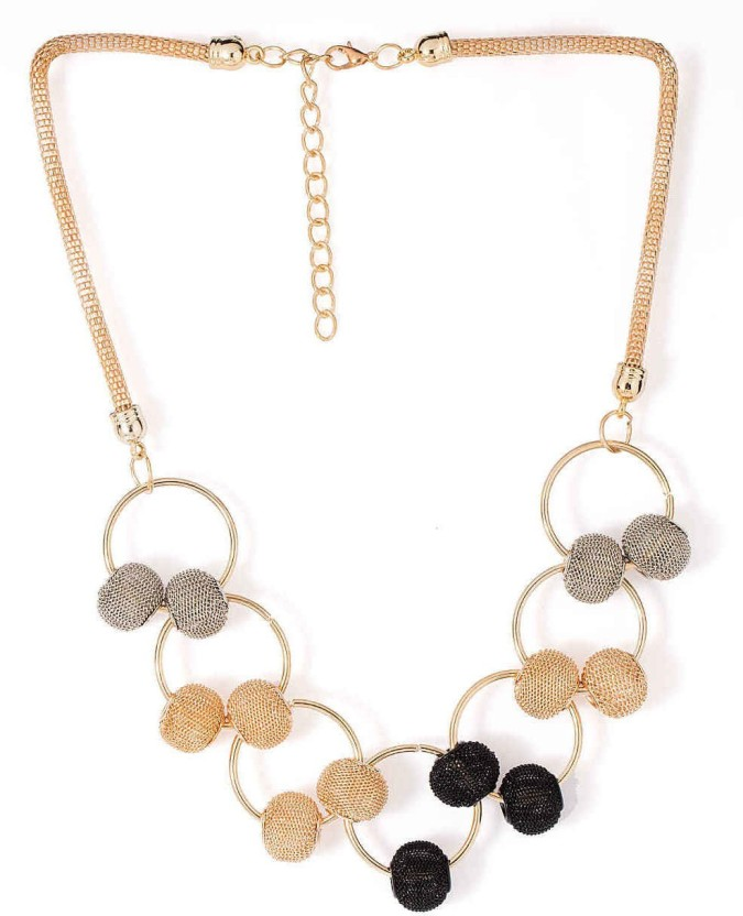 Factorywala Yellow Gold Plated Alloy Necklace