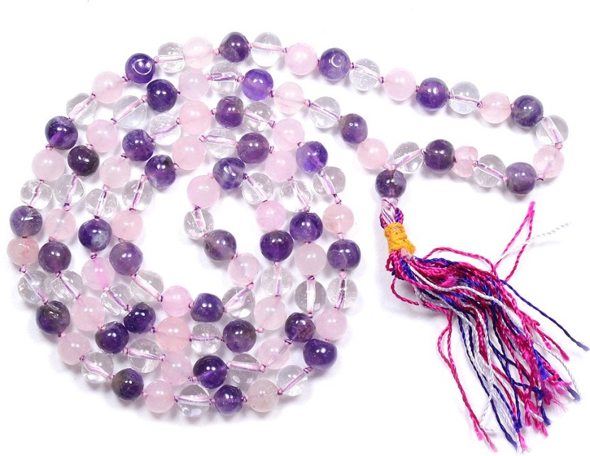 Reiki Crystal Products Education Mala Quartz Stone Necklace