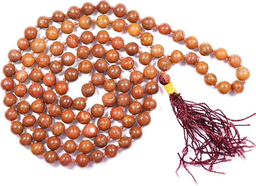 Reiki Crystal Products Red Jasper Mala Crystal Stone Necklace
