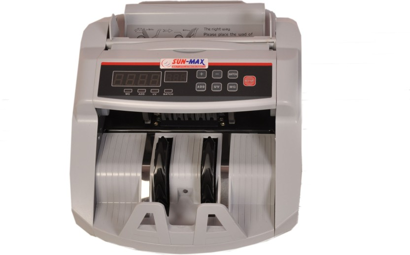 Sun-Max Sc 380 With Fake Notes Detection Note Counting Machine