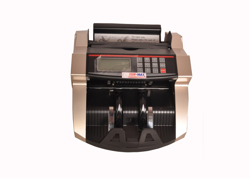 Sun-Max SC 860 with LCD Feature with Fake Note Detections(Gold Black) Note Counting Machine