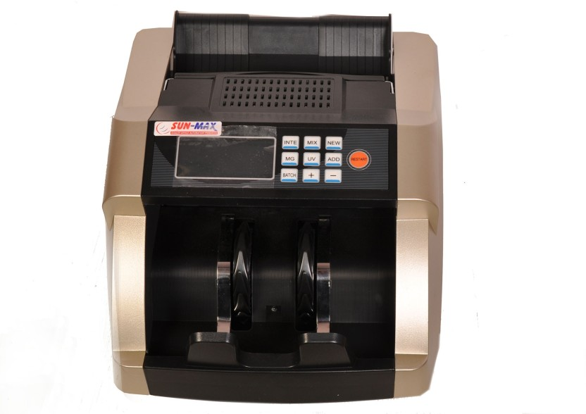 Sun-Max Sc 750 Premiun Mix Value Counter With Fake Note Detectors Note Counting Machine