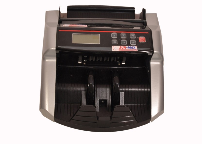 Sun-Max SC 340 Talky LCD Display with Fake Note Detectors Note Counting Machine