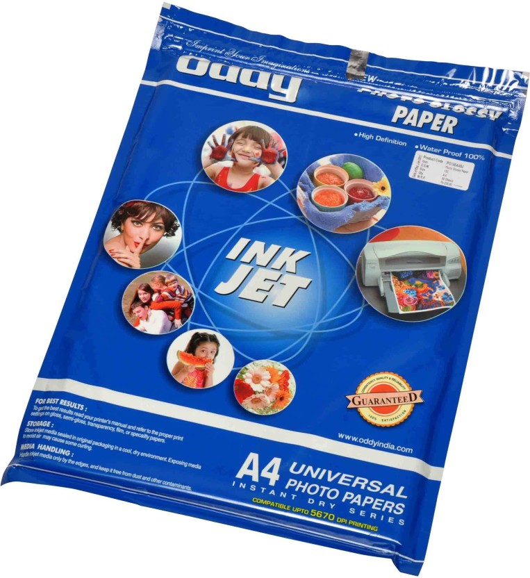 Oddy Universal Coated Glossy For All Inkjet Printers 260 GSM Unruled A3 Photo Paper