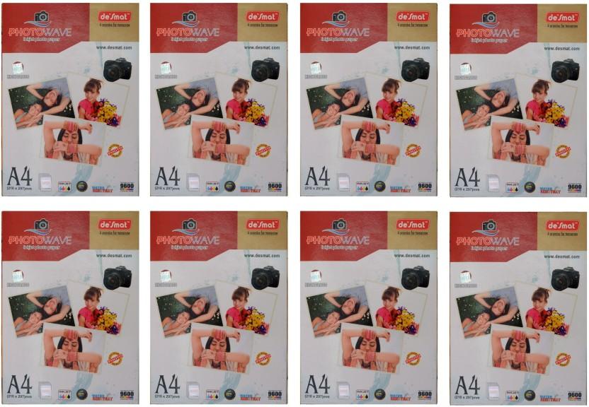 Desmat Photo Wave Unruled A4 Photo Paper