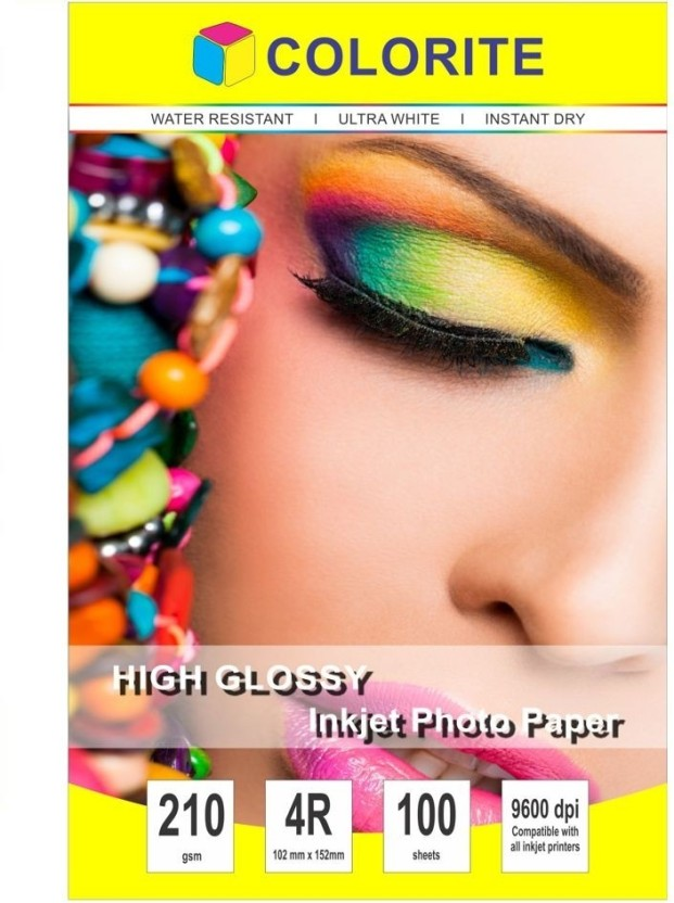 Colorite 210gsm Cast Coated Inkjet Unruled A4 Photo Paper