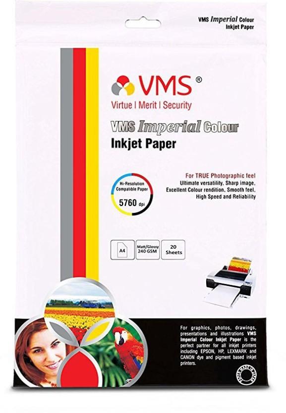VMS Imperial Matte Unruled A4 Inkjet Paper
