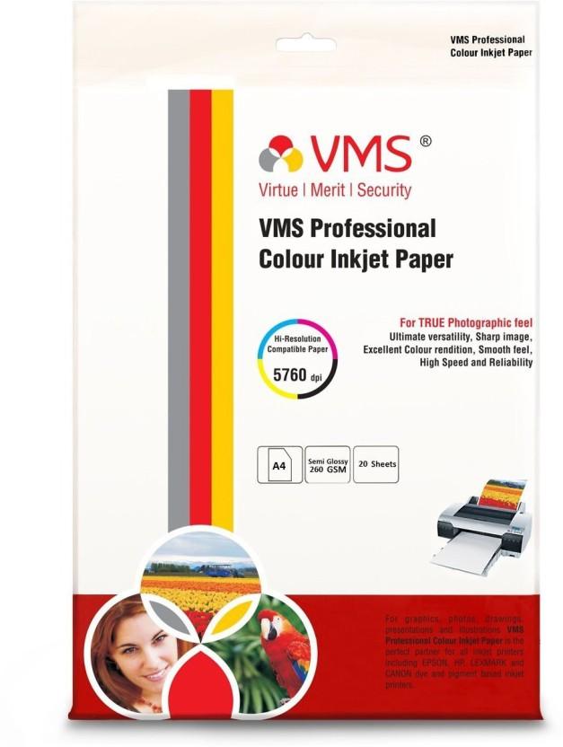 VMS Semi Glossy Unruled A4 Inkjet Paper