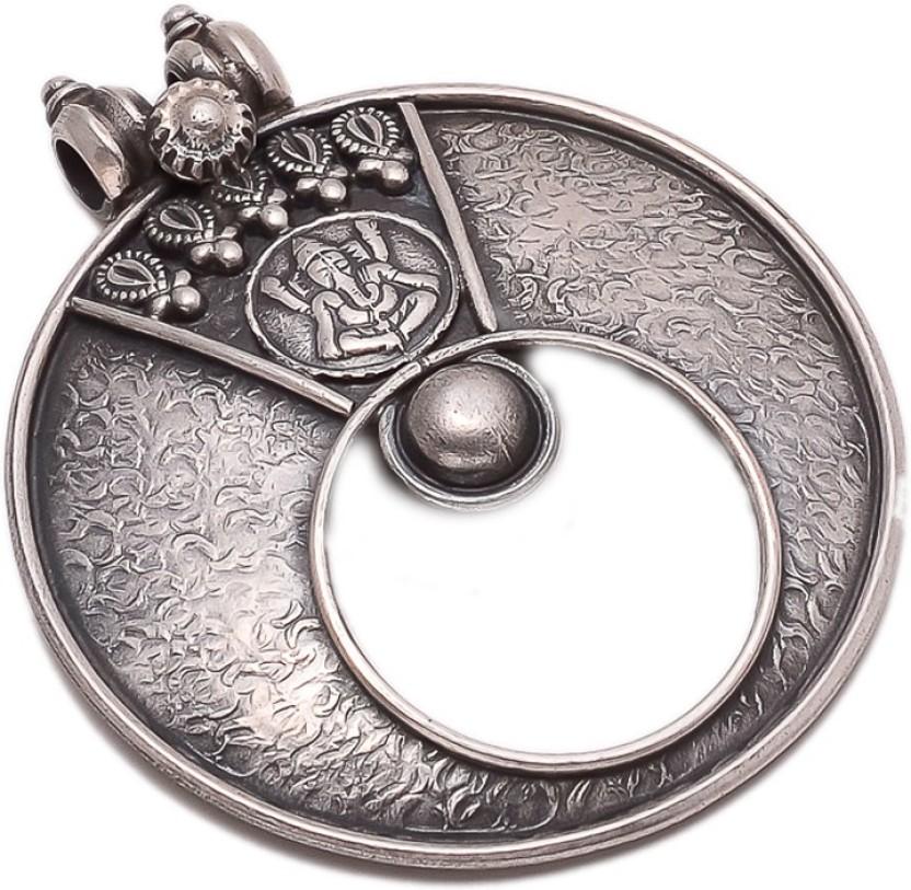 Manglam Durga On Lion Silver Silver Pendant