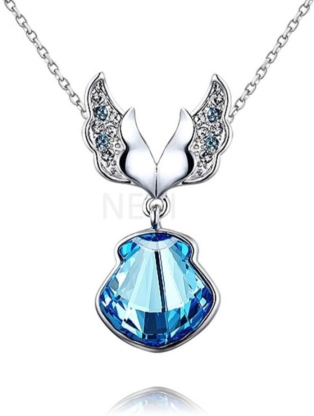 Nevi Butterfly Rhodium Swarovski Crystal Alloy, Crystal Pendant