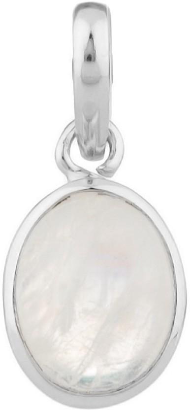 Voylla Semi pricious Simplicity Plain Moonstone Sterling Silver Pendant