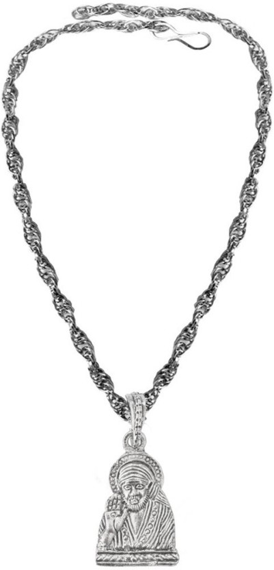 Rich & Famous Riligious Mens Jewellery Lord Shree Sai Baba Alloy Pendant