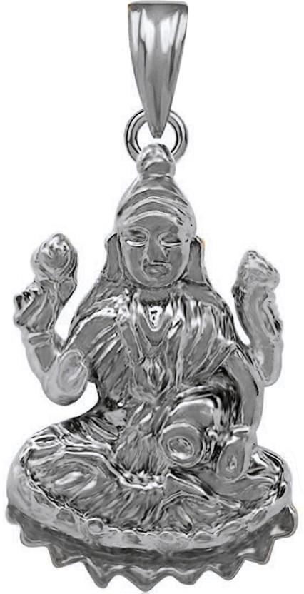 The Marketvilla Laxmi Mata Ambe Maa Durga Ma Mahalaxmi God Mataji Devi Locket 925 Rhodium Cubic Zirconia Silver, Sterling Silver Pendant
