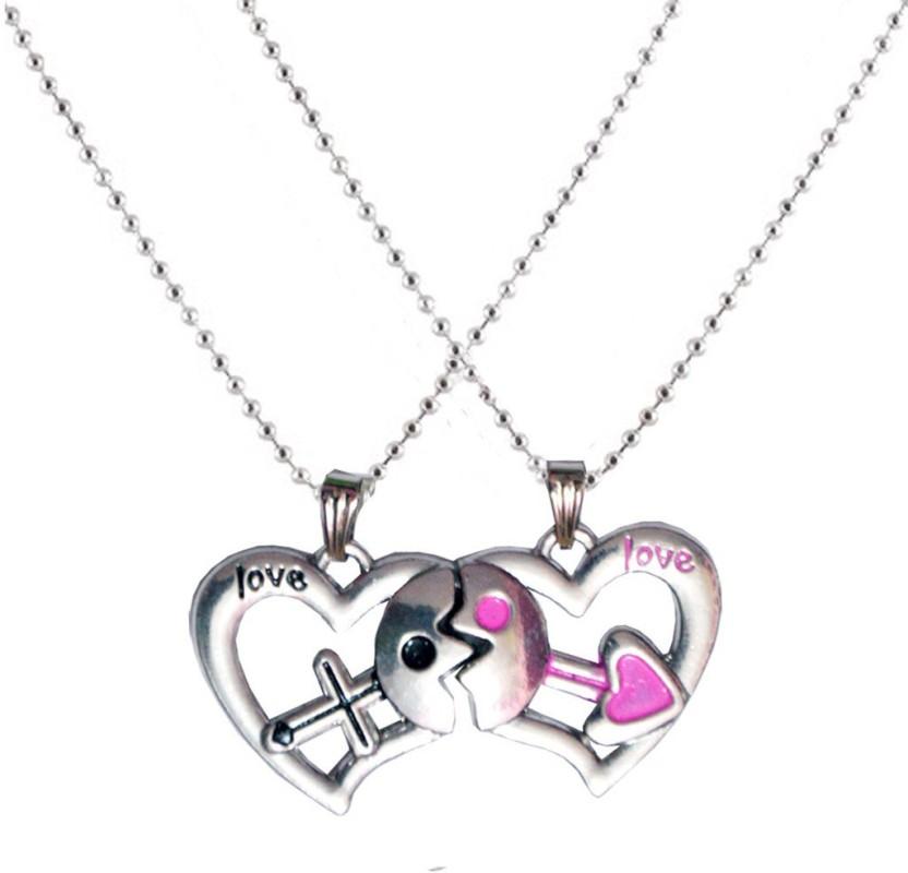 Men Style Couple Love You Heart Mangnetic Alloy Pendant