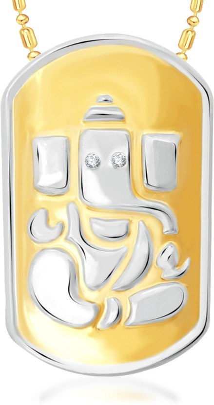 VK Jewels Vighneshwar 18K Yellow Gold Cubic Zirconia Alloy Pendant