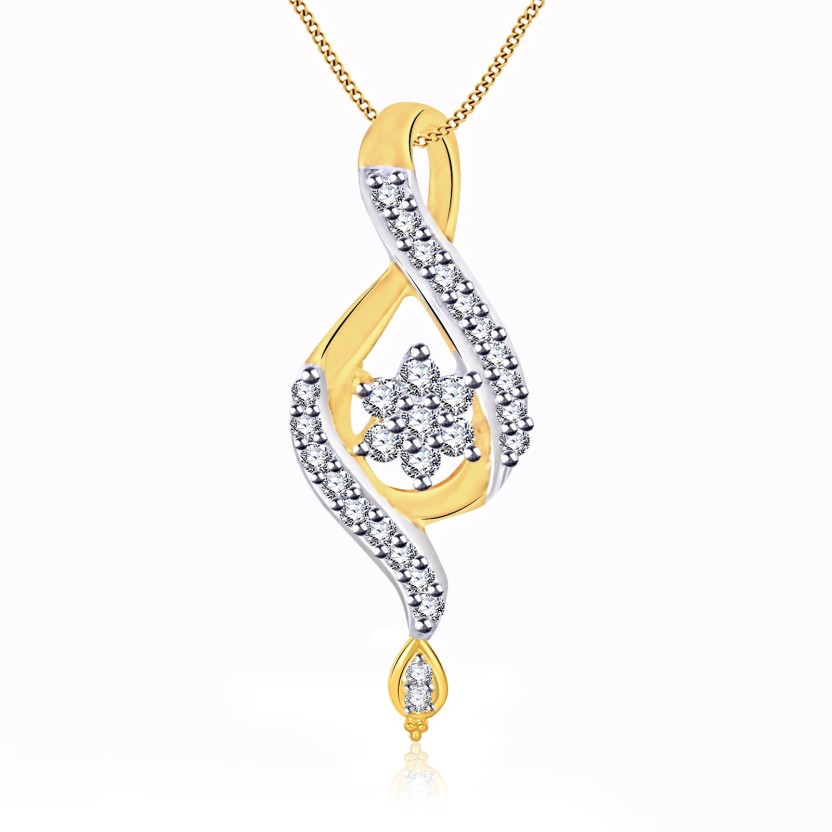Vidhi Jewels Floral 18K Yellow Gold Cubic Zirconia Alloy, Brass
