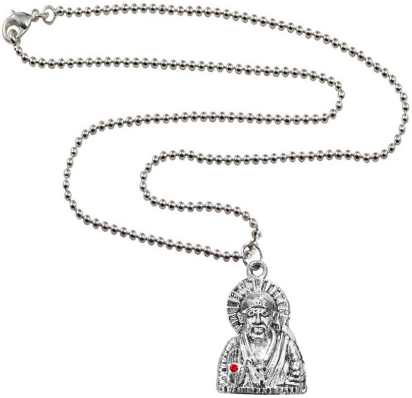 Rich & Famous Religious Lord Sai Baba Alloy Pendant