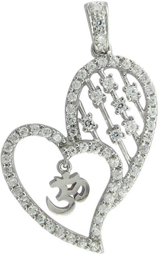 Treta Beautiful Heart Shape Sterling Silver Pendant