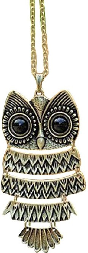 French Aura Owl Pendant Beads Alloy