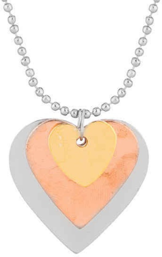 Gemshop Presenting you this exclusive heart shape Silver Alloy Pendant