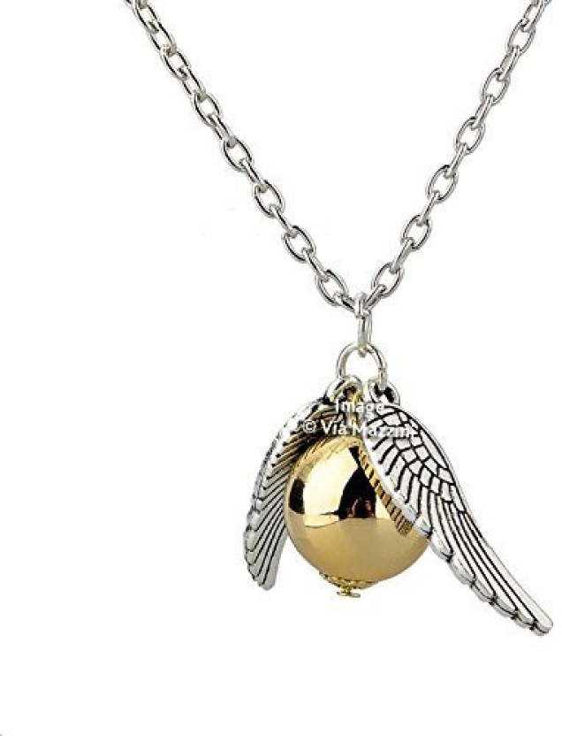 Yellow Chimes Snitch Collier Wing Ball Metal