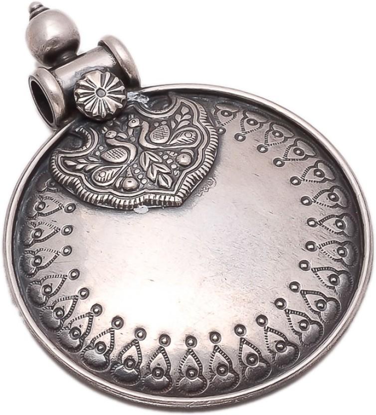 The Marketvilla 925 Sterling Sherawali Ambe Maa Men Women Cz Durga God Devi Locket Rhodium Cubic Zirconia Silver Pendant