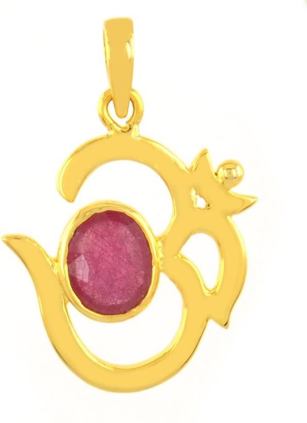 Avaatar 4.25 Ratti Astrological Ruby Metal Pendant