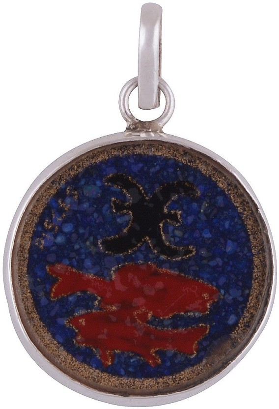 Silver Prince Designer Lapis Lazuli, Coral, Turquoise Silver Pendant