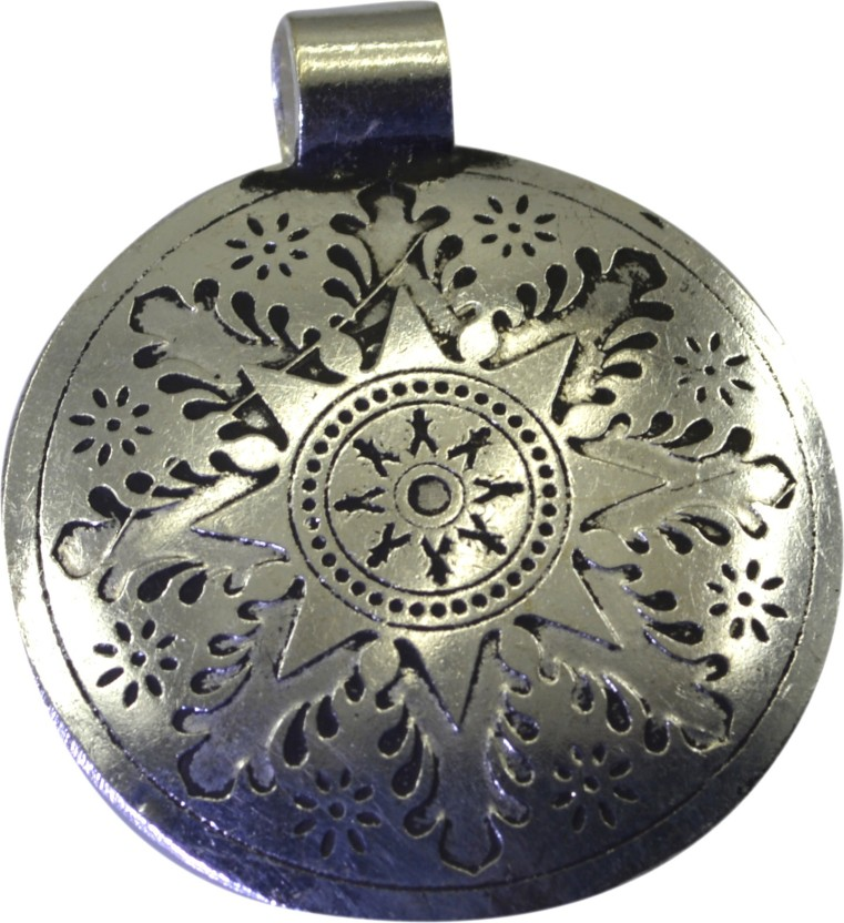 Riyo Riyo Lovelystar Handmade Jewelry From World Tradtional Pendant For Women Black Silver Alloy Pendant