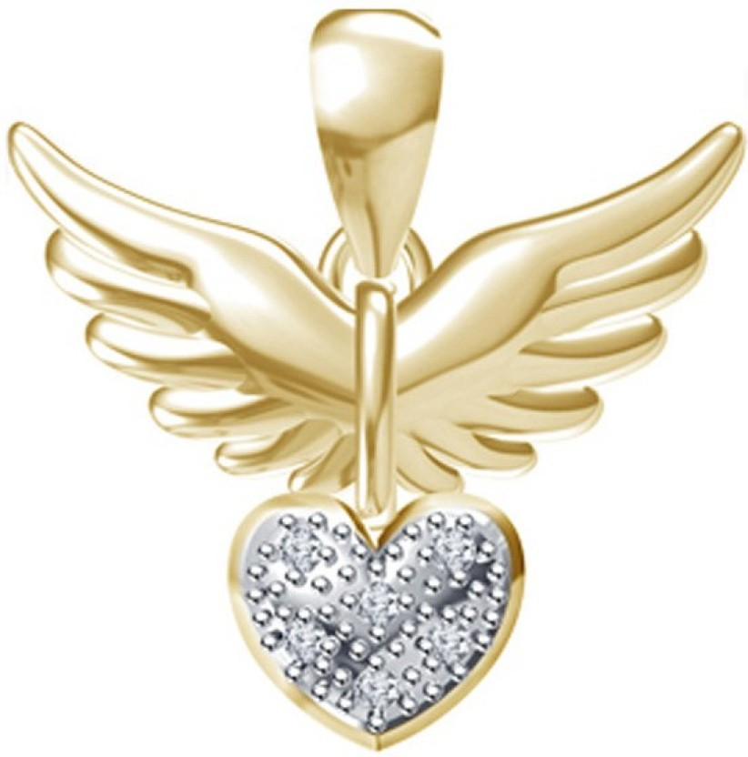 Kataria Jewellers Hearts White Gold plated Sterling Silver Pendant