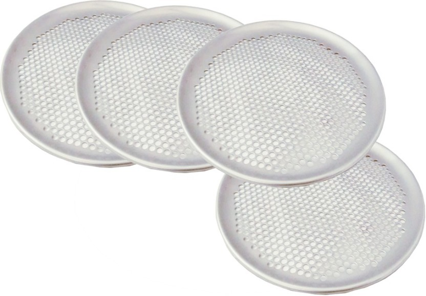 Thw 7 Inches Aluminum Perforated Pizza Coupe Tray for Thin Crust Pizzas Tray Set